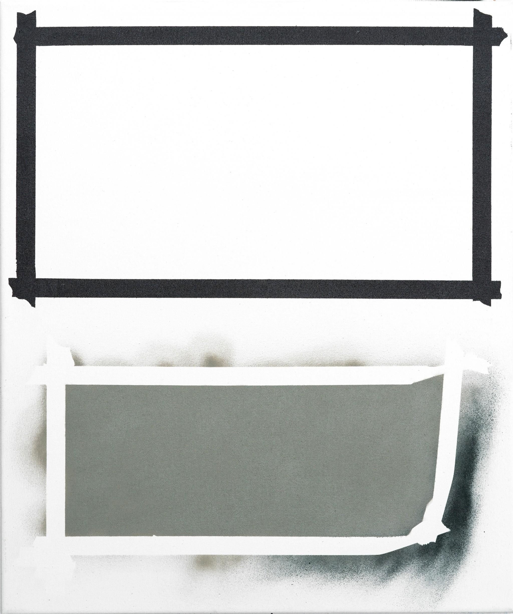 O.T. 2018 Acryl, Lack auf Baumwolle 50x40 cm